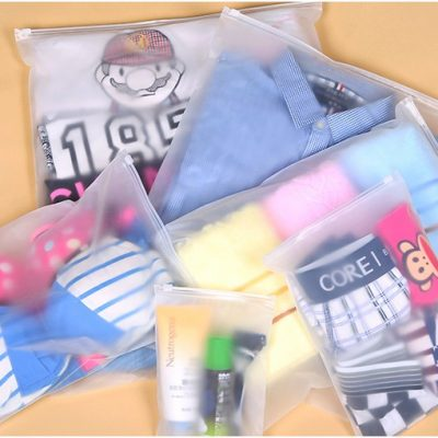 Clear Plastic Clothes Bags With Zips For Travelling