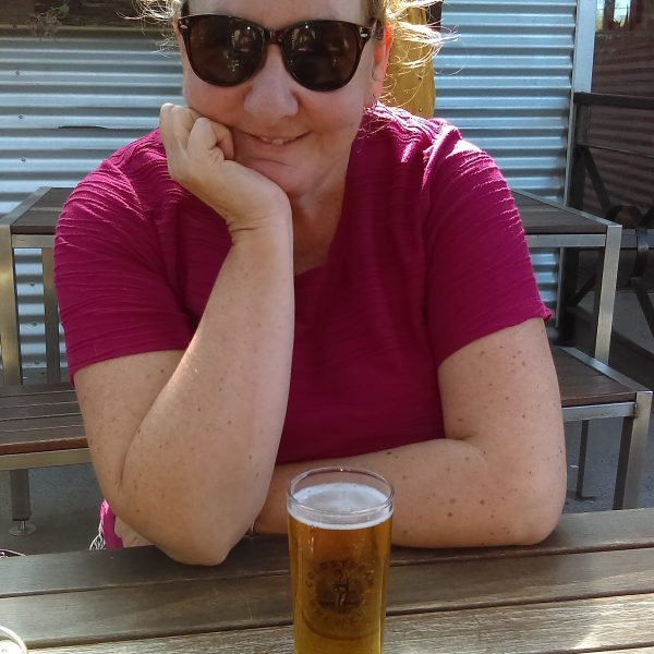 Sharyn McCullum Travel Writer enjoying At Beer At The Coldstream Brewery