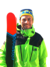 James King With His Skis And Ski Gear On