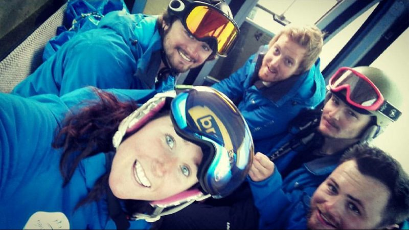 James King With Other Ski Instructors
