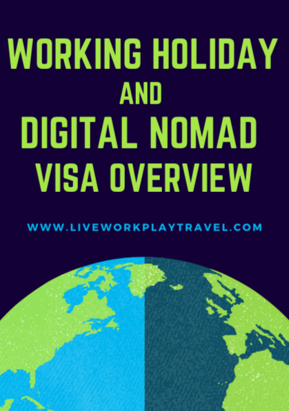 Working Holiday And Digital Nomad Visa Overview Cover With The World.
