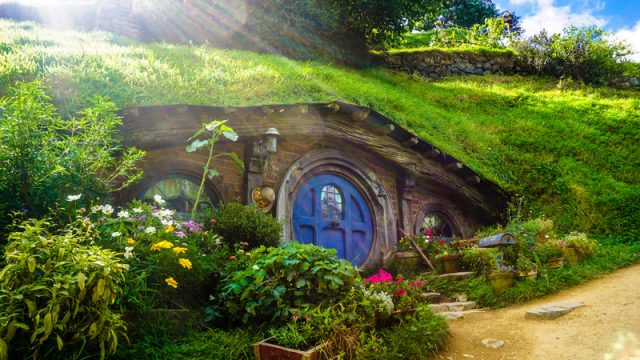 Hobbit House In Middle Earth A Fictional Place In New Zealand.