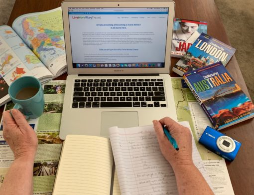 To Be A Travel Writer You Need A Laptop, Pen and Writing Materials To Make Notes.
