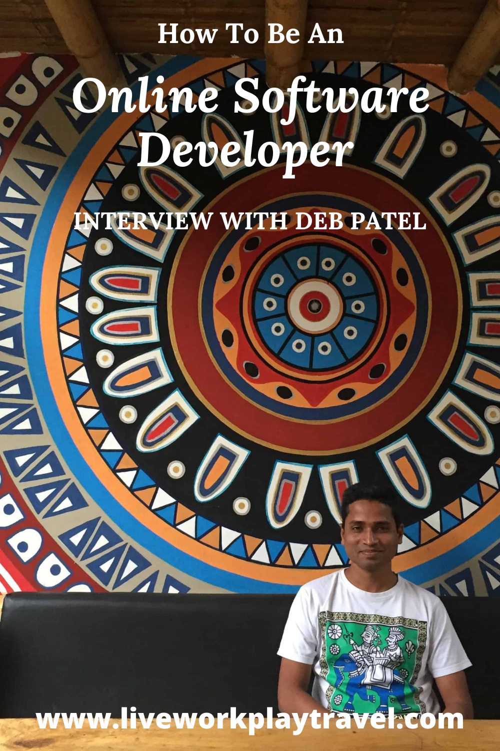 Deb Patel Sitting In A Coffee Shop Developing Software