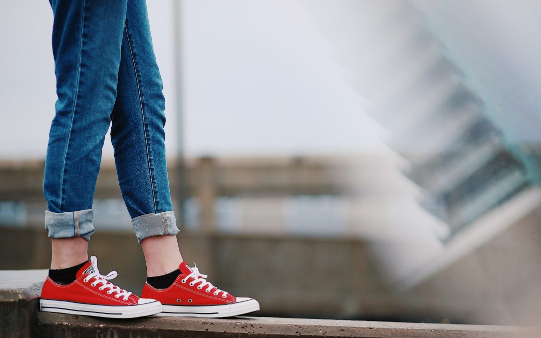 Person With Red Shoes Walking