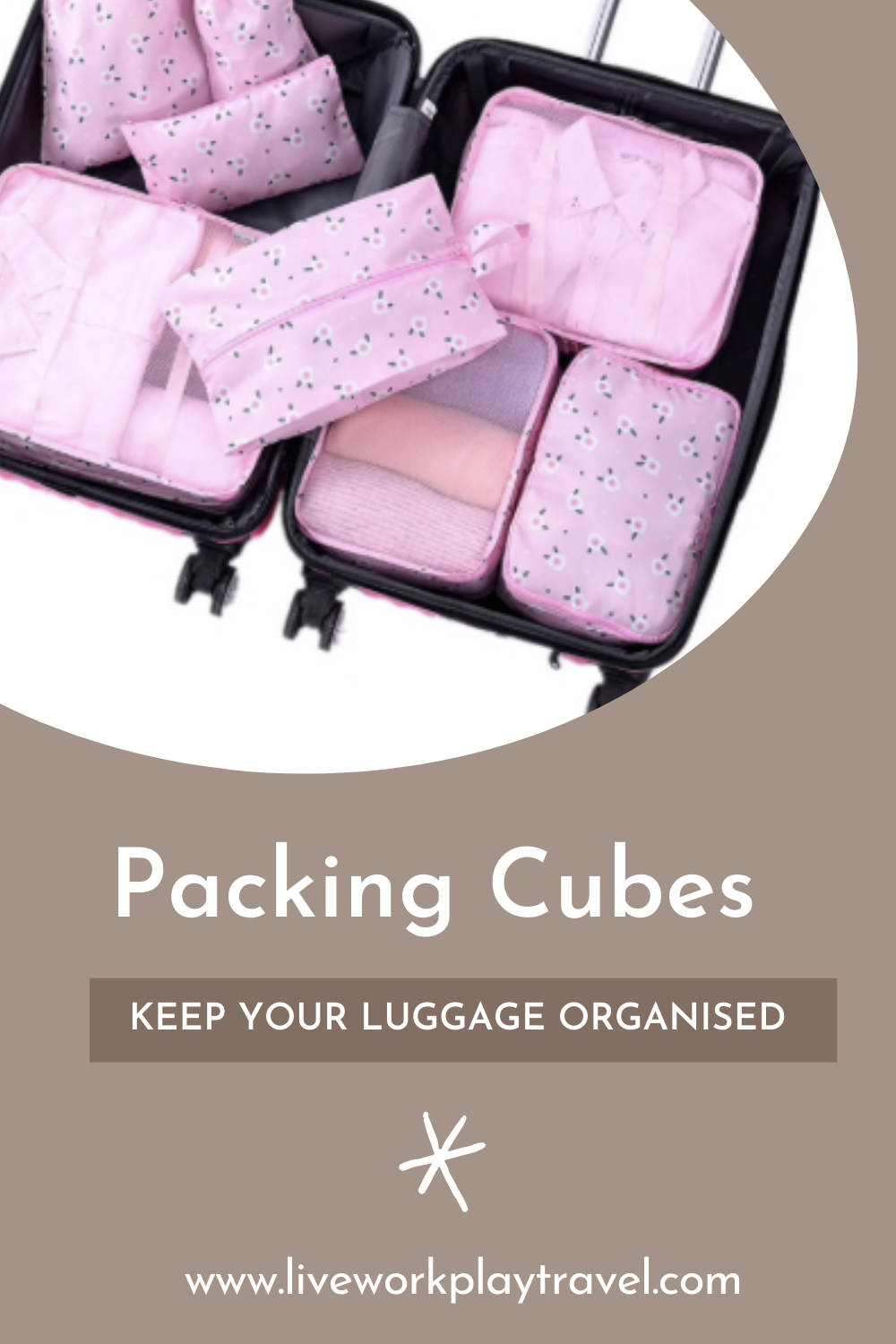 Packing Cubes Make Clothes Tidy In A Suitcase.
