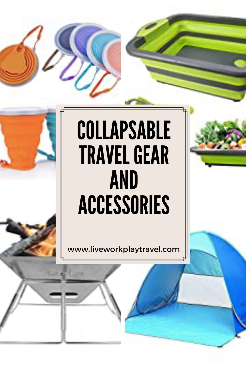 Collapsable Travel Gear And Accessories.
