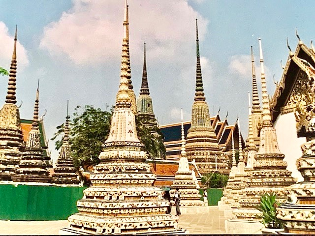 Decorated Spires in The Grounds Of The Grand Palace In Bangkok.