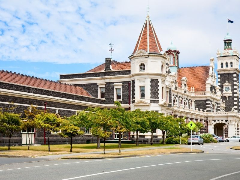 Dunedin's Historic Railway Station Is Classic Edwardian And Victorian Architecture.