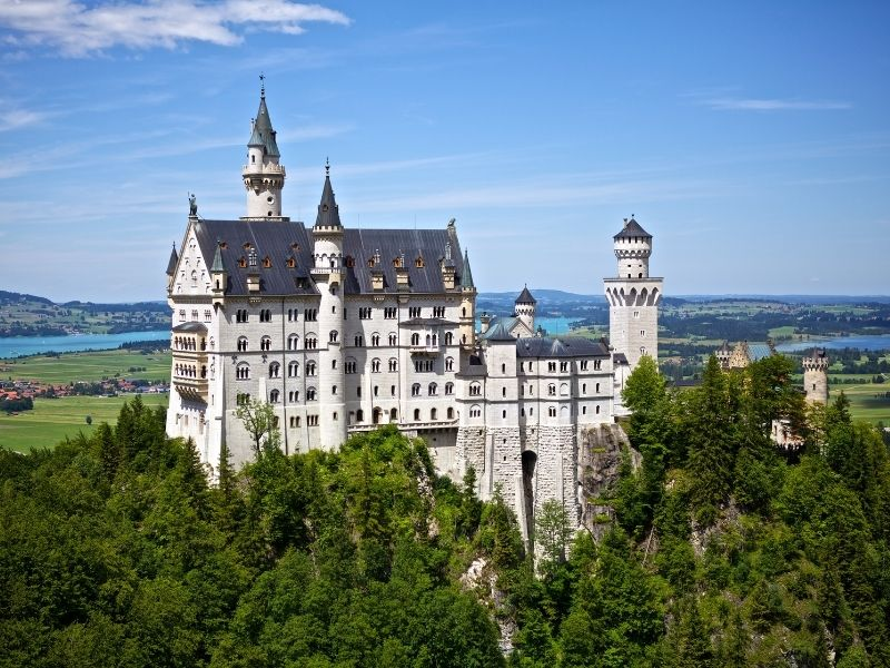 Neuswantein Castle In Germany. Walt Disney Modelled His Castle At Disney Land After This Castle.