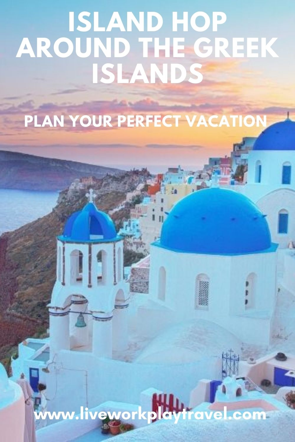 Santorini Is A Popular Island To Visit When Island Hopping The Greek Islands. Spend Your Days In Whitewashed Buildings Overlooking Crystal Clear Blue Waters.