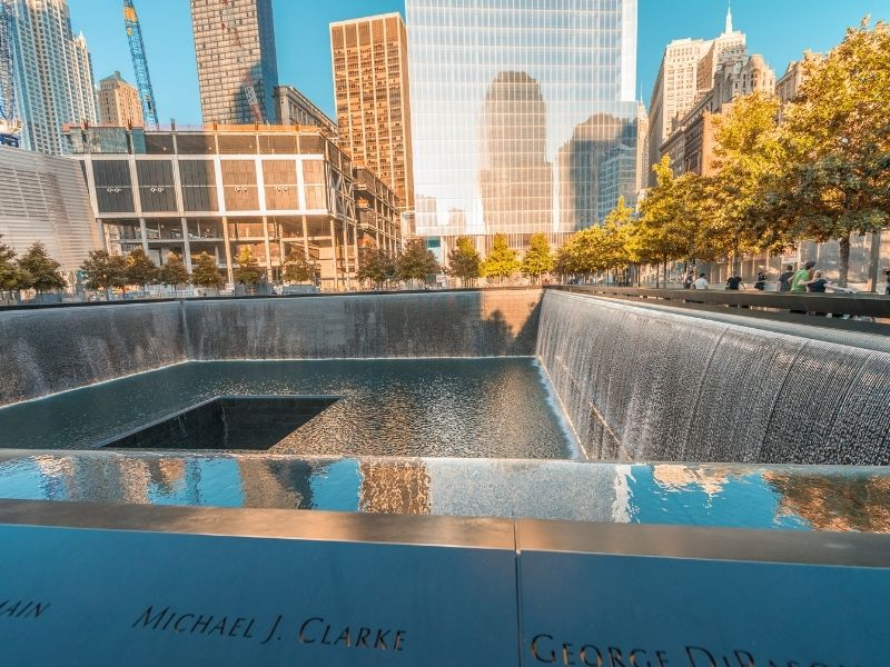 9/11 Memorial In New York Is A Sombre Place.