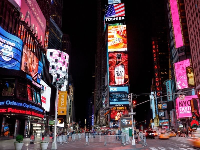Times Square In New York Is A Popular Place To Visit When In New York.