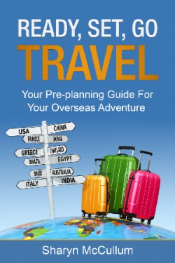 Three Suitcases Standing On Top Of The World For The New Cover For Ready, Set,Go - Travel Your Pre-planning Guide For Your Overseas Adventure.