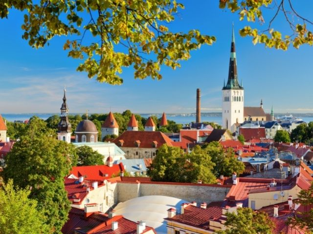 Tallinn Is The Capital Of Estonia. There Are Many Old Buildings With Spires. A Very Beautiful City Skyline And A Great Place To Live While On Your Estonia Working Holiday.