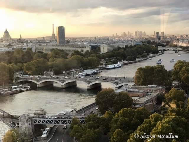 View Of Paris From Hotel Room. Overlooking The Seine River, Eiffel Tower, Sacre Cour And Pont Neuf. Great Places To Visit During A 3 Day Visit To Paris.